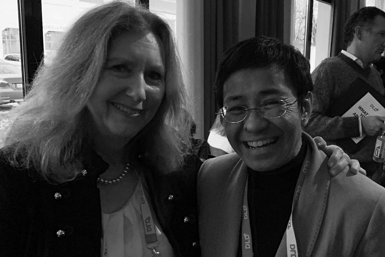 Mary Gordon with Maria Ressa,